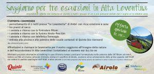 Soggiorno per 3 escursioni in Alta Leventina!